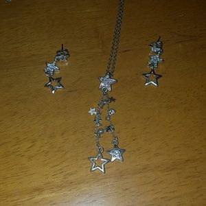 Star necklace and earring set